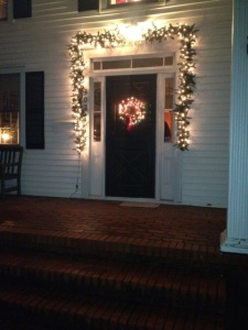 door and wreath