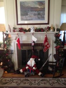 Santa and mantle copy
