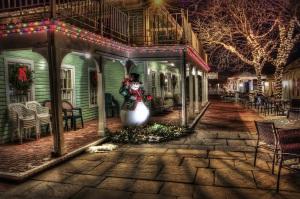snowman town lights