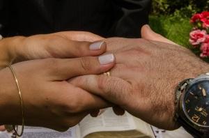 woman man hands