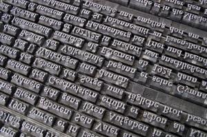 typeset font