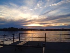 Peaceful blue sunset copy