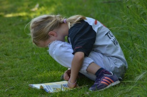 child reading copy
